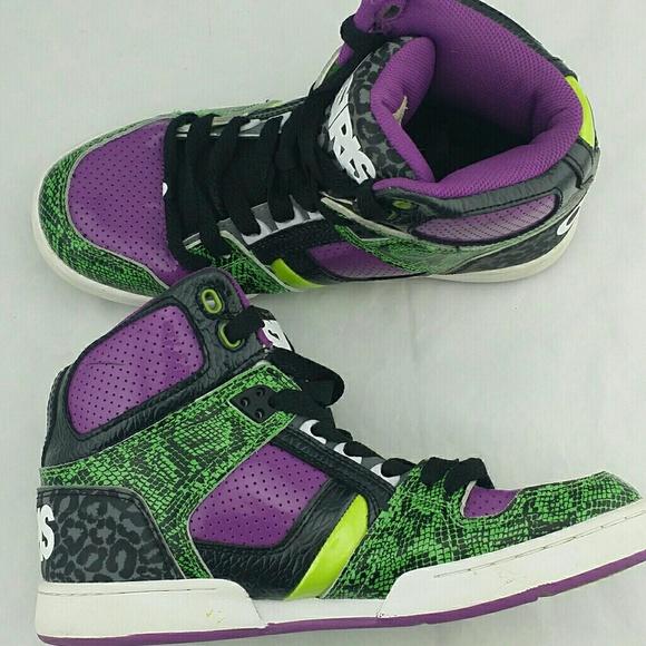 a1c1dfc6101 Osiris Shoes   Skateboard Joker Edition Green Purple   Poshmark